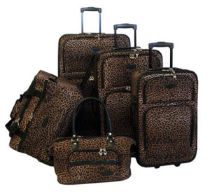 Leopard And Cheetah Print Luggage Sets Bring Out Your Wild