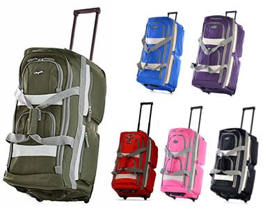 Olympia Luggage 29″ 8 Pocket Rolling Duffel Bag 61bfd6197b